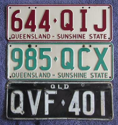 LARGE TRAILERS x 3 LICENSE/NUMBER PLATES