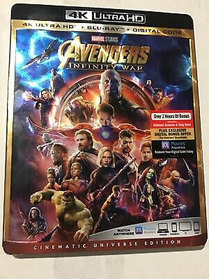 Avengers Infinity War BRAND NEW 4k Ultra HD/Blu-ray/Digital HD