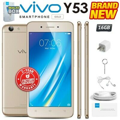 NEW & SEALED Factory Unlocked VIVO Y53 Gold Dual SIM 16GB Android Smartphone