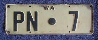 Single Digit Pingelly Shire License/number Plate # Pn.7
