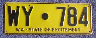 Wyndham Shire License/number Plate # Wy.784