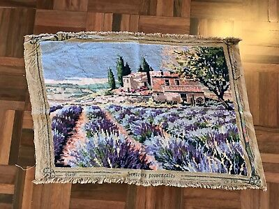 Antique vintage SEG Paris France Provence lavender fields countryside tapestry
