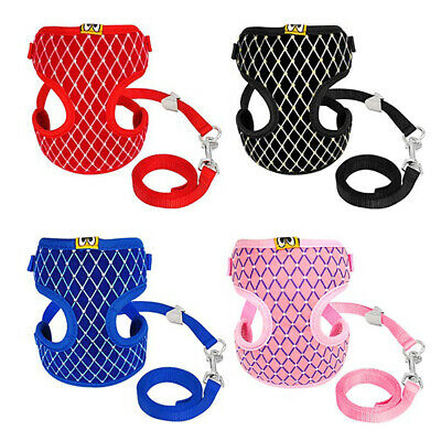 Soft Mesh Breathable Cat Dog Harness & Leash for Small Pet Puppy Kitten Sightly