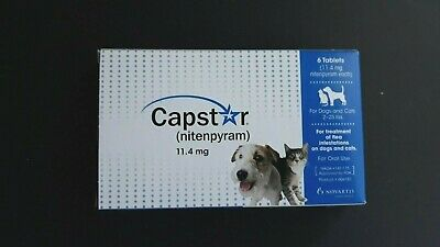 Capstar (nitenpyram) for Dogs and Cats 2-25 lbs  Oral Flea Treatment 6 Tablets