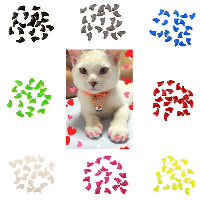 20Pcs Soft Cat Nail Caps Clips Paw Guard Nails Anti-Scratchy Pet Grooming Comely
