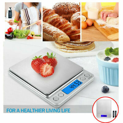 0.01g Portable Digital Electronic Kitchen Food Scale 500g Jewelry Gold Food Gram