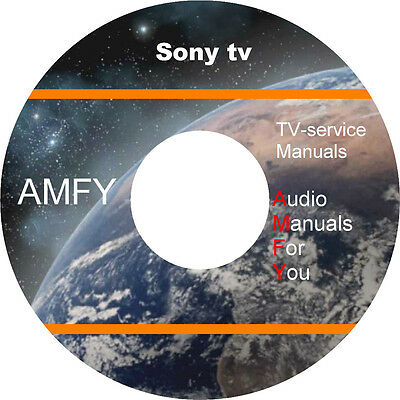 Sony TV/Video service manuals on 5 dvd, all files in pdf format