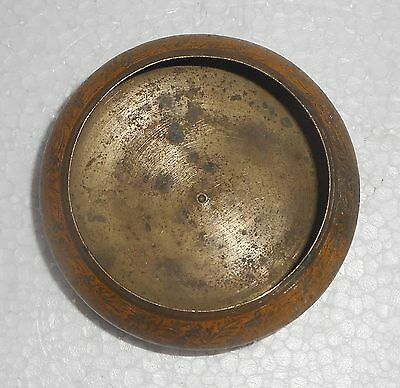 Vintage Brass Pot Hand Engraving etc Paint Over 50 Years Old x792