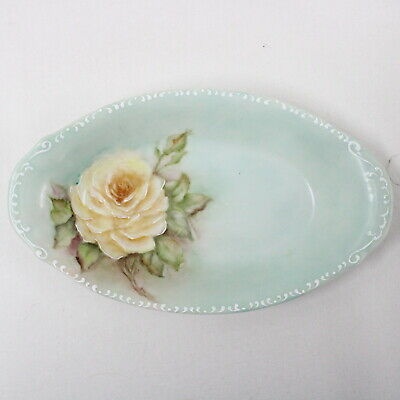 Miniature Ceramic Display Trinket Plate Dish Hand Painted by Phyl Nospir #319