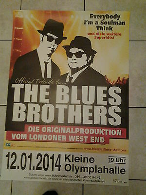 The Blues Brothers 2014 .  Original Concert/Promo Poster DIN A 1 , 84 x 59 cm
