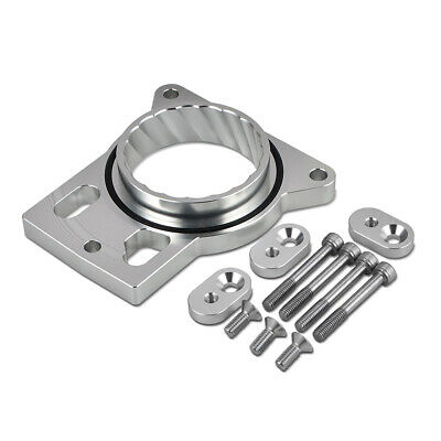 NiceCNC Unique Eddy Design Throttle Body Spacer Direct Fit Complete Silvery Kit