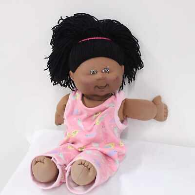 Play Along Cabbage Patch Dark Skinned Black Hair Doll Xavier Roberts 2004 #452