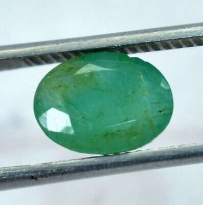 2.50 Ct 100% Natural Green Colombian Emerald GIE Certified Oval Cut Loose Gem