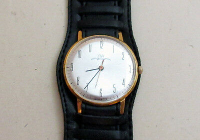LUCH gold plated USSR vintage men's mechanical wristwatch