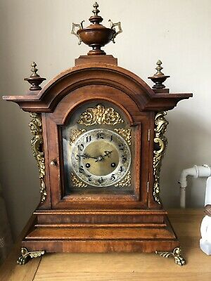German Dome topped mantel/bracket antique Chiming Clock By Junghans 1890-1900