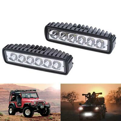 2x 6inch 30W LED Searchlight Work Driving Light Bar Cree Flood Beam Lamp Offroad