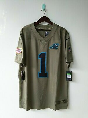check out 52dc6 1d75a $160 NIKE NFL Carolina Panthers Salute to Service Jersey Cam Newton #1 XL  2XL