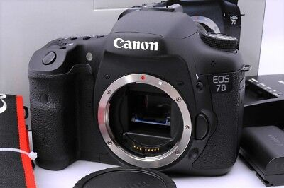 【Top Mint】Canon EOS 7D 18.0MP Digital SLR Camera Black Body Only 5000 shot#No115