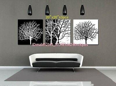 YH401 3PCS Hand painted Oil Canvas Wall Art Home Decor Modern abstract NO Frame