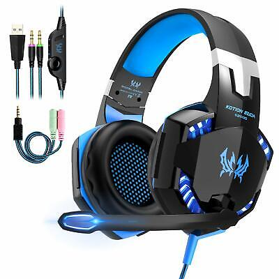 EACH 3.5mm Gaming Headset MIC LED G2000 Headphones for PC Laptop PS4 Xbox One