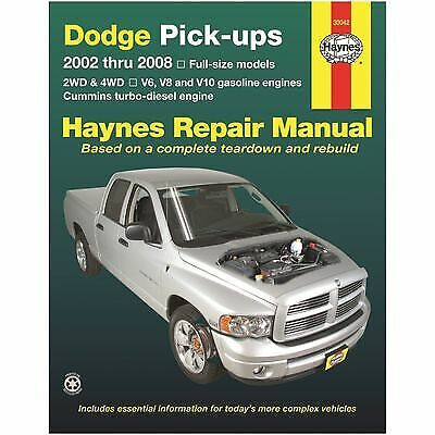 Haynes Reparaturanleitung Dodge Ram Pick up  Bj.2002-2008