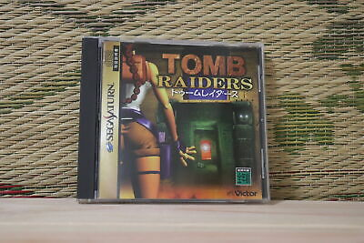TOMB RAIDER Japan Ver Sega Saturn SS Japan Game VG+!
