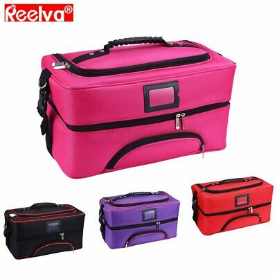 Hairdressing Makeup Vanity Case Beauty Cosmetics Storage Bag Box Fashion Party