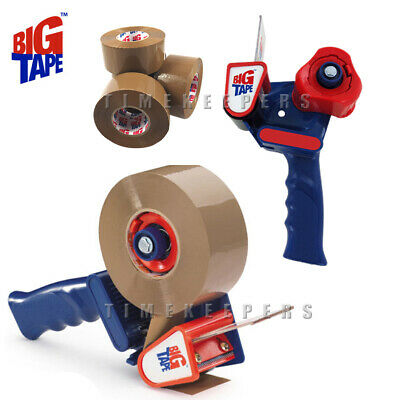 Big Tape Gun Dispenser for Large 150m Brown Tape Parcel Packaging Rolls