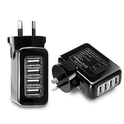 4 USB Port AU Plug 4.1A AC Wall Charger Adapter for Apple iPhone X 8 7 iPad 5
