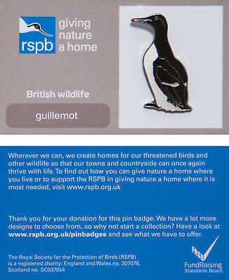RSPB Pin Badge | guillemot GNAH (00940)
