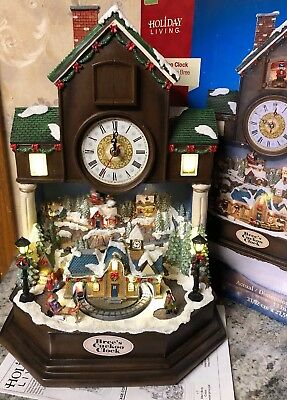 Bree Cuckoo Clock Christmas Coo-Coo Animated Lighted Santa Train Sleigh NEW