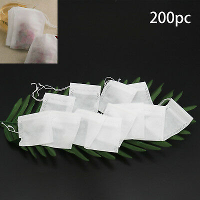 TN 200X non-woven Empty Teabags String Heat Seal Filter Paper Herb Loose TeaBag