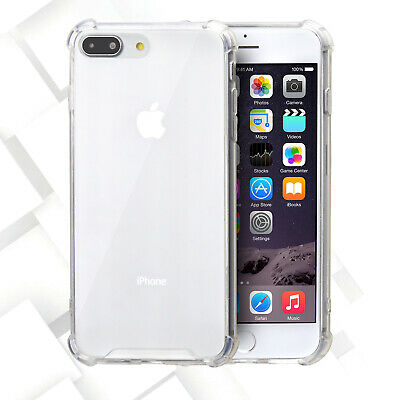 Dual Layer Crystal Clear Frame Skin Hard Case Cover For Apple iPhone 7/8 Plus