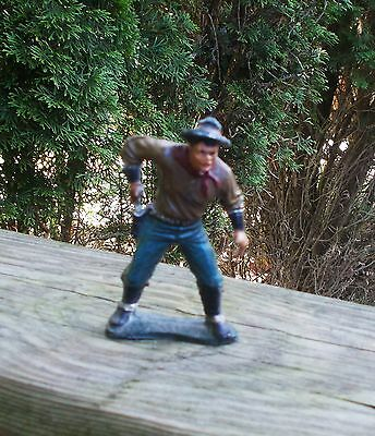 FINE n OLD Hand Painted Hand Cast Toy Lead Figure of Billy the Kid Very Nice!