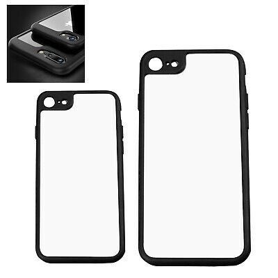 Black Shockproof Clear Bumper Thin Case Cover Skin Replacement For iPhone 7/8