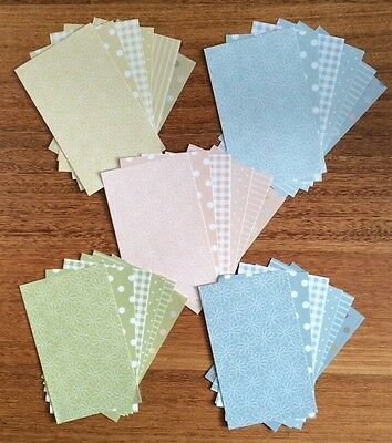 "A5 ""PASTEL"" PAPER, 30 pack, 5 COLOURS with 6 DESIGNS"