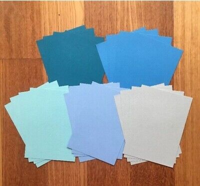 """A5 """"BLUES"""" TEXTURED CARDSTOCK, 20 pack, 5 SHADES, 216gsm"""