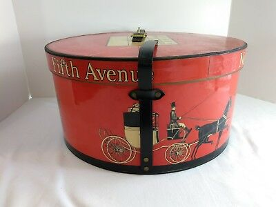 Vintage Dobbs Fifth Avenue New York Red Hat Box Only