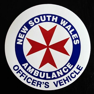 Obsolete Nsw Ambulance Officer's Vehicle Ambulance Sticker Decal