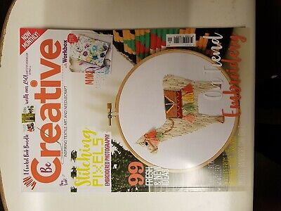 Be Creative Magazine April 2019 # 174 = 99 Fresh And New Ideas = Embroidery