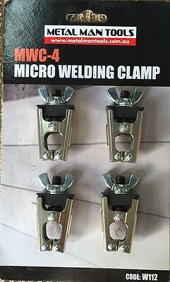 MICRO WELDING PANEL CLAMPS (set of 8)  PANEL BEATING CLAMPS, SHEETMETAL CLAMPS