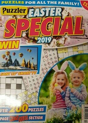 Puzzler Easter Special Magazine 8 May 2019 Over 200 Puzzles + Quiz Kids Section