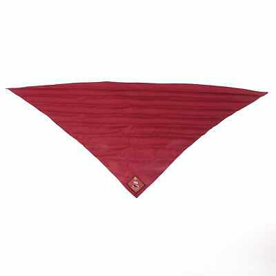 Burgundy Boy Scouts/Girl Guides Neckerchief with Noble Park District Badge #405