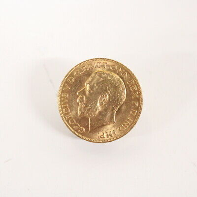 Antique 1911 English 22ct Gold Sovereign Coin King George V #454