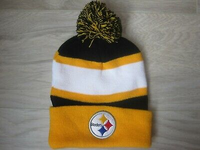 fbb564be9fb48 Pittsburgh Steelers Bud Light Beer Winter Pom Pom Beanie Toque Cap Knit Hat