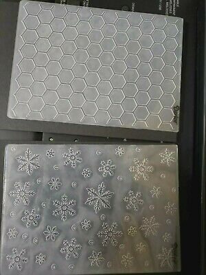 Darice embossing folders  Large 5x7 size Lot of 2 Hexagon and snowflakes