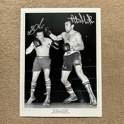 SALE SIBSON & MINTER BOXING HAND SIGNED PHOTO AUTHENTIC + COA - 16x12