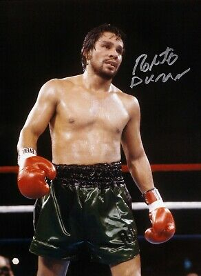 SALE ROBERTO DURAN BOXING HAND SIGNED PHOTO AUTHENTIC + COA - 16x12
