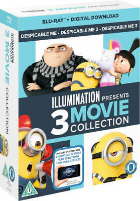 Illumination Presents: 3-Movie Collection (Despicable Me 1-2-3) [Blu-ray] New!!