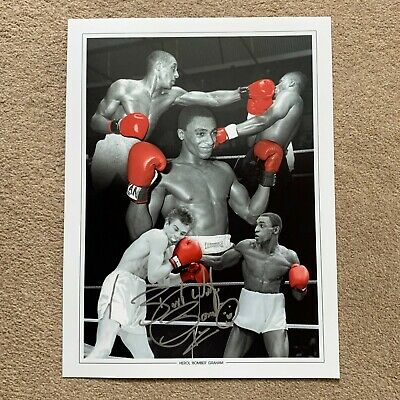 SALE HEROL GRAHAM BOXING HAND SIGNED PHOTO AUTHENTIC + COA - 16x12